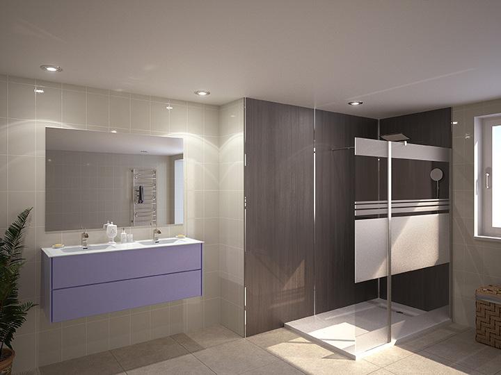 salle de bain marine 3d. Black Bedroom Furniture Sets. Home Design Ideas