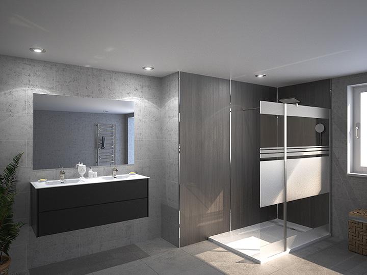 Salle de bain moderne 3D